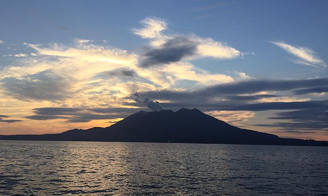 桜島の夕日