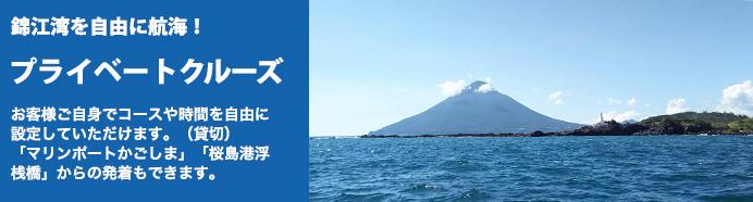 錦江湾プライベートクルージング